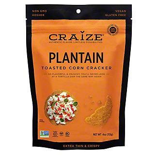 Craize Plantain Toasted Corn Crisps, 4 oz