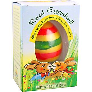 Real Eggshell Chocolate and Hazelnut Truffle Easter Egg, 1.75 oz