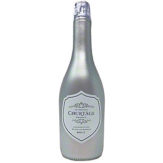 Le Grand Courtage Brut Metallic Silver Neoprene Sleeve, 750 mL