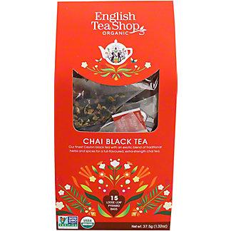 English Tea Shop Organic Chai Black Tea, 15 ct