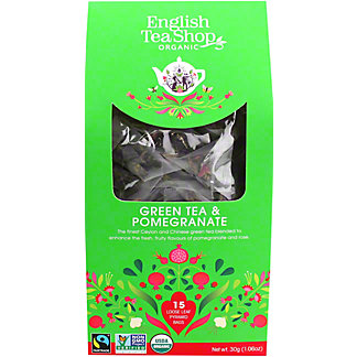 English Tea Shop Organic Green Tea & Pomegranate, 15 ct