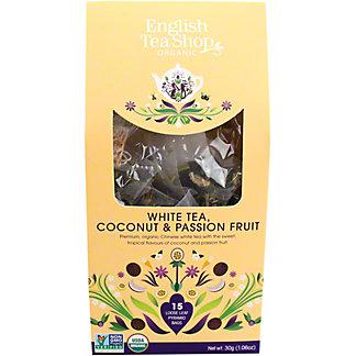 English Tea Shop Organic White Tea With Coconut & Passion Fruit, 15 ct
