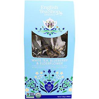 English Tea Shop Organic White Tea Blueberry & Elder Flower, 15 ct