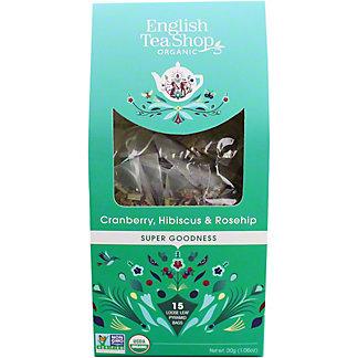 English Tea Shop Organic Cranberry Hibiscus Rosehip Tea, 15 ct