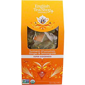English Tea Shop Organic Turmeric Ginger & Lemongrass Tea, 15 ct