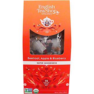 English Tea Shop Organic Beetroot Apple & Blueberry Tea, 15 ct