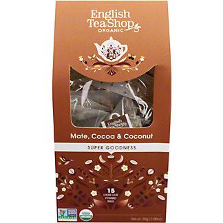 English Tea Shop Organic Mate Cocoa & Coconut Tea, 15 ct