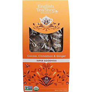 English Tea Shop Organic Cocoa Cinnamon & Ginger Tea, 15 ct