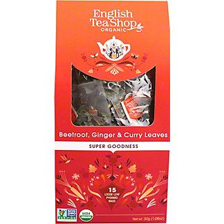 English Tea Shop Organic Beetroot Ginger & Curry Tea, 15 ct