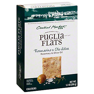 Central Market Rosemary Olive Oil Puglia Flats, 5.3 oz
