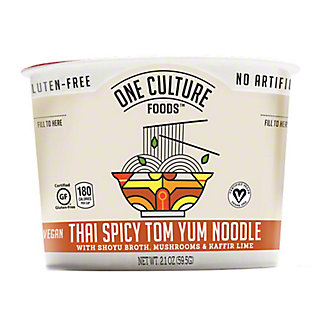 One Culture Foods Thai Spicy Tom Yum Noodle, 2.1 oz