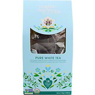English Tea Shop Organic Pure White Tea, 15 ct