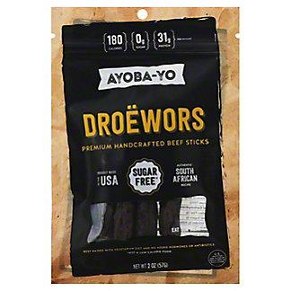 Ayoba-Yo Droewors Beef Sticks, 2 oz