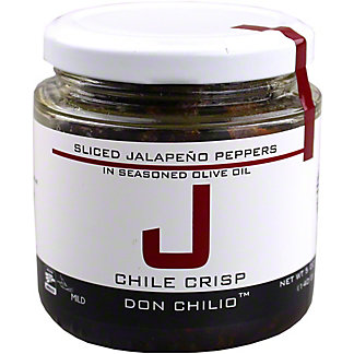 Don Chilio Sliced Jalapeno Chile Crisp Peppers In Seasoned Olive Oil, 5 oz
