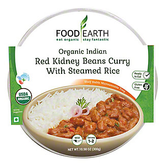 Food Earth Red Kidney Bean Curry With Steamed Rice, 10.58 oz