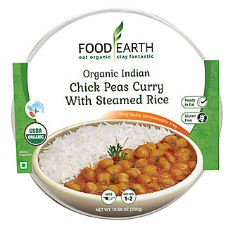 Food Earth Chick Peas Curry With Steamed Rice, 10.58 oz