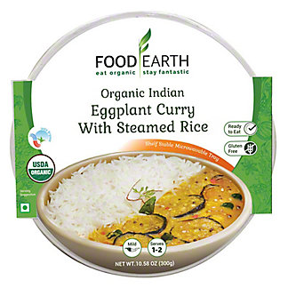 Food Earth Eggplant Curry With Steamed Rice, 10.58 oz