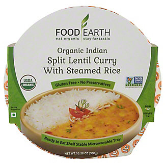 Food Earth Split Lentil Curry With Steamed Rice, 10.58 oz