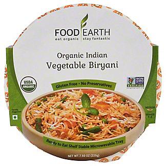 Food Earth Vegetable Biryani, 7.93 oz