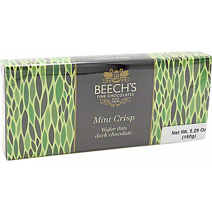 Beech's Fine Chocolates Dark Chocolate Mint Crisps, 150 gr