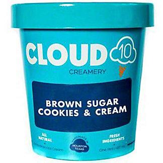 Cloud 10 Creamery Brown Sugar Cookies & Cream, 16 oz