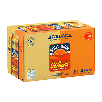 Karbach Southern Wheat Belgian Style White Ale Beer 12 oz Cans, 6 pk