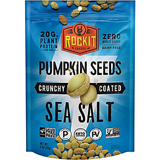 Rock It Crunchy Coated Pumpkin Seeds With Seasalt, 2 oz