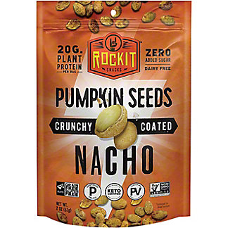 Rock It Crunchy Coated Pumpkin Seeds With Nacho, 2 oz