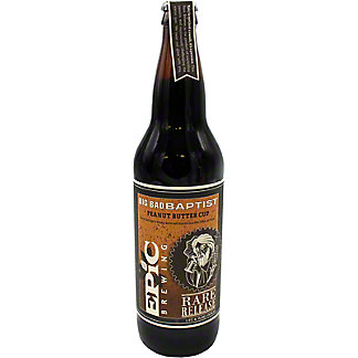 Epic Brewing Co Peanut Butter Cup Baptist Imperial Stout, Glass Bottle, 22 fl oz