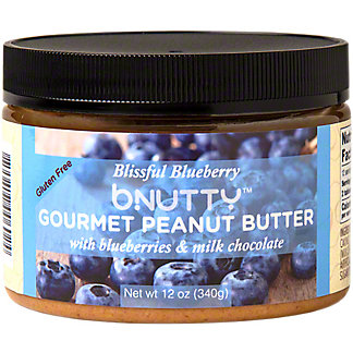 Bnutty Gourmet Peanut Butter With Blueberries & Milk Chocolate, 12 oz