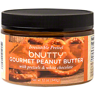 Bnutty Gourmet Peanut Butter With Pretzel & White Chocolate , 12 oz