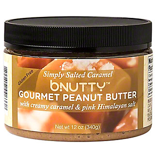 Bnutty Gourmet Peanut Butter With Creamy Caramel & Pink Salt , 12 oz
