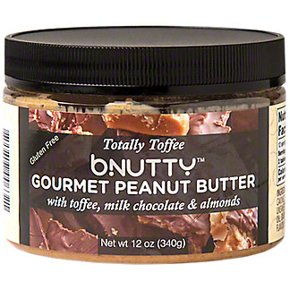 Bnutty Gourmet Peanut Butter With Toffee Milk Chocolate & Almonds  , 12 oz