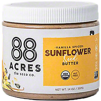 88 Acres Organic Vanilla Spiced Sunflower Seed Butter , 14 oz