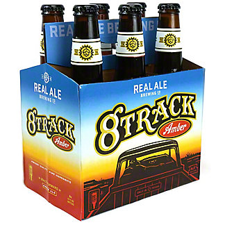 Real Ale 8 Track Amber Beer 12 oz Bottles, 6 pk