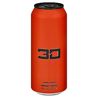 3D Candy Punch Energy Drink, 16 oz