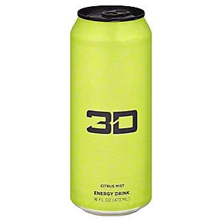 3D Citrus Dew Energy Drink, 16 oz