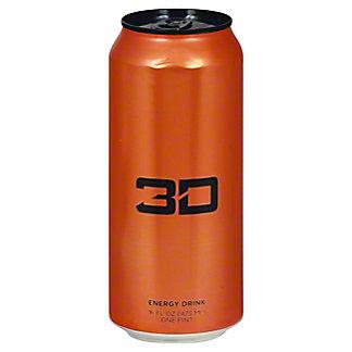 3D Sunburst Energy Drink, 16 oz