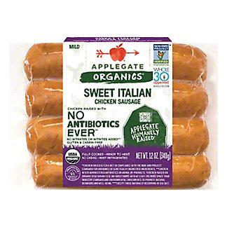 Applegate Organics Mild Sweet Italian Chicken Sausage, 12 oz
