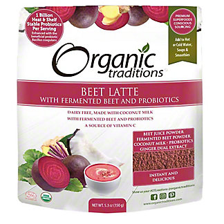 Organic Traditions Beet Latte With Probiotics, 5.3 oz