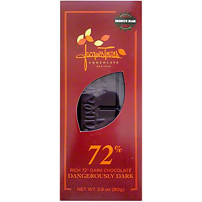 Jacques Torres 72% Dangerously Dark Chocolate, 2.8 oz
