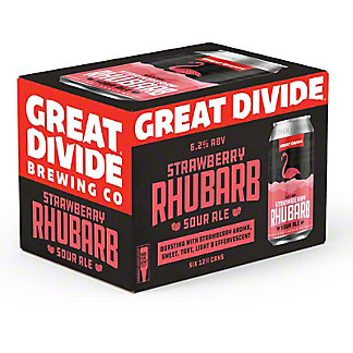 Great Divide Strawberry Rhubarb, 6 pk Cans, 12 fl oz ea