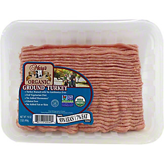 Mary's Organic 93% Lean Ground Turkey, 1 lb