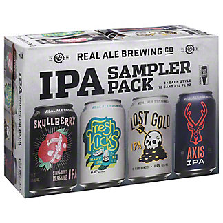 Real Ale IPA Sampler Pack Beer 12 oz Cans, 12 pk