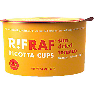 RifRaf Sun-Dried Tomato Ricotta Cheese Cup, 4.6 oz