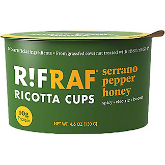 RifRaf Honey Serrano Pepper Ricotta Cheese Cup, 4.6 oz