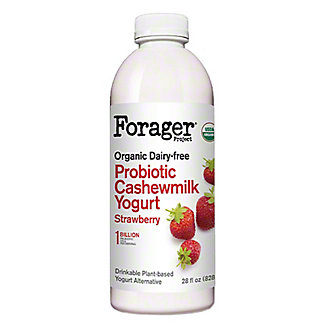Forager Project Cashewgurt Dairy Free Drink Probiotic Strawberry, 28 oz