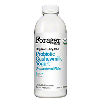 Forager Unsweetened Plain Probiotic Cashewmilk Yogurt, 28 fl oz