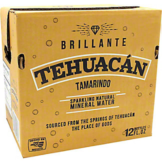 Tehuacan Tamarindo Sparkling Mineral Water, Glass Bottle, 12 pk, 12 fl oz ea