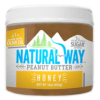 Natural Way Honey Peanut Butter, 16 oz